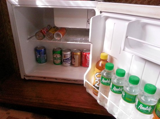Puerto Pension Inn: Mini fridge