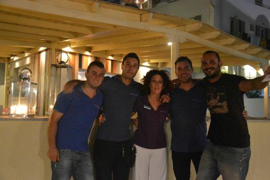 Nissaki Restaurant: Alex, Stamatis, Antonia, Vasilis & Spiros...!!!!