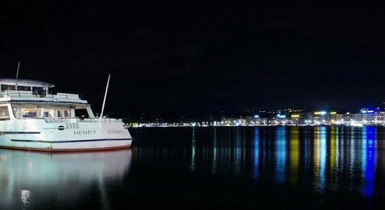 Jet d'Eau: Geneva at night