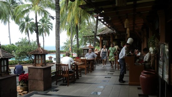 Diamond Cliff Resort and Spa: The breakfast terrace