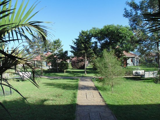 Arusha Planet Lodge : the garden paths in the hotel-area
