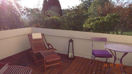 Saint-Martial de Gimel, فرنسا: terrasse privative suite Noelie