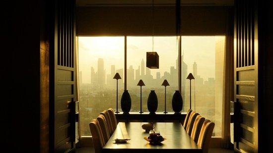 Raffles Dubai: View from Dining Room