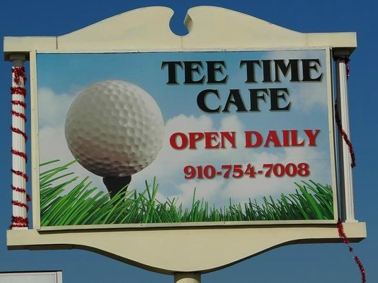 Tee-Time Cafe: sign on street