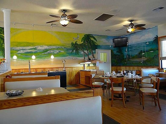 Tee-Time Cafe: one side with buffet