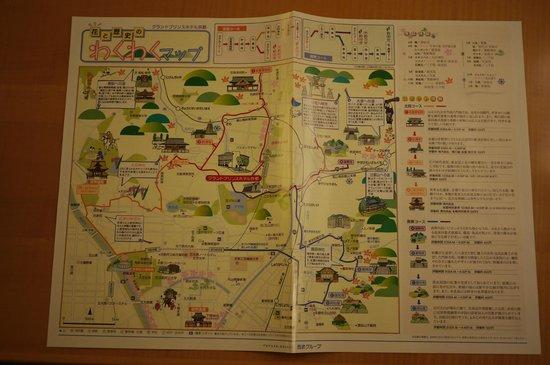 Grand Prince Hotel Kyoto : 飯店提供附近地圖