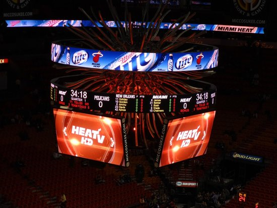 American Airlines Arena: Marcador
