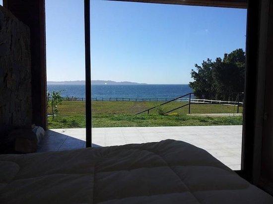 Tome, Chile: Vista desde la pieza de cabaña para 2 pers.