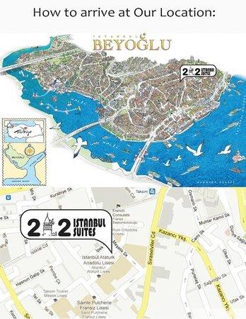 212 Istanbul Suites: LOCATION