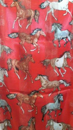 "Caballo Loco Boutique: Silk scarf with ""horses"" of course."