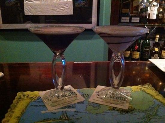 The Fish House Encore: espresso martini & peanut butter martini... Made by Jim @ The Encore