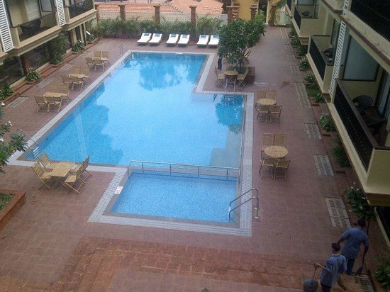 Deltin Suites: Pool view from room