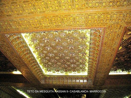 II. Hasan Camii: Teto da Mesquita Hassan II