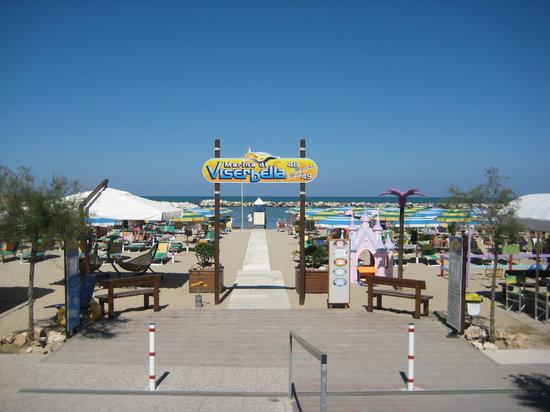 Viserbella, Italie : ingresso spiaggia