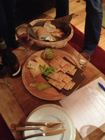 Chalet Aux Joux : cheese platter after dinner