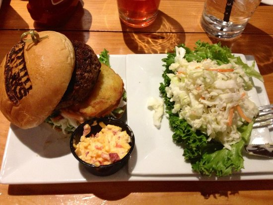 Grill Marks : Low Country Burger with Cole Slaw