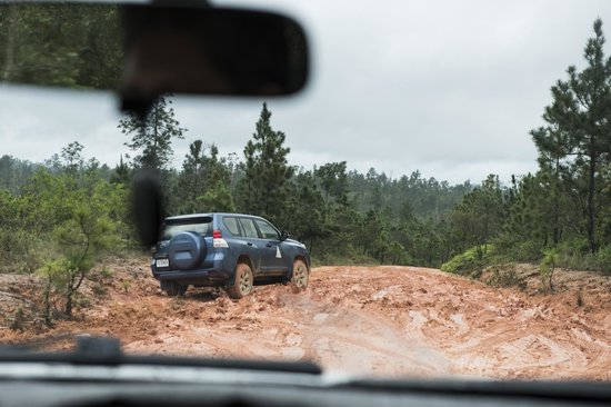 Blancaneaux Lodge: The road !