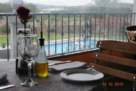 La Masseria: view toward the poolside