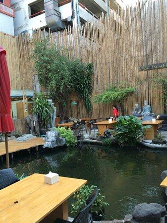 Villa Cha-Cha: Espace extérieure et restaurant
