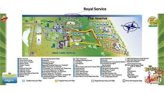 Melia Caribe Tropical All Inclusive Beach Golf Resort Map