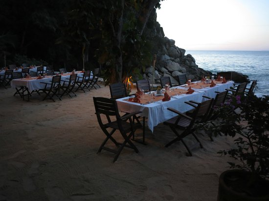 Xinalani Retreat : Last night dining set up on terrace
