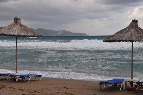 Agapi Beach Hotel: Пляж