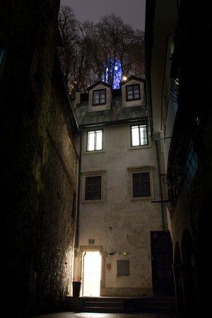 Emona Luxury Rooms: Entrance & Castle