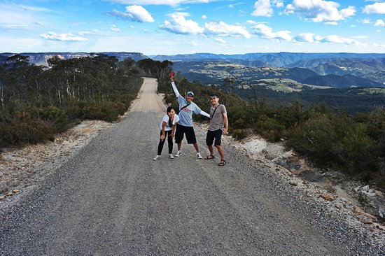 Life's An Adventure - Day Tours : The troop (sans boy who just wanted to chill in the 4WD) at Hargreaves lookout