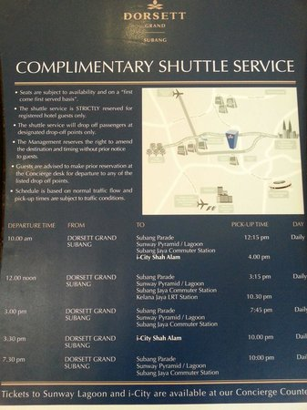 Dorsett Grand Subang: Complimentary shuttle bus service.
