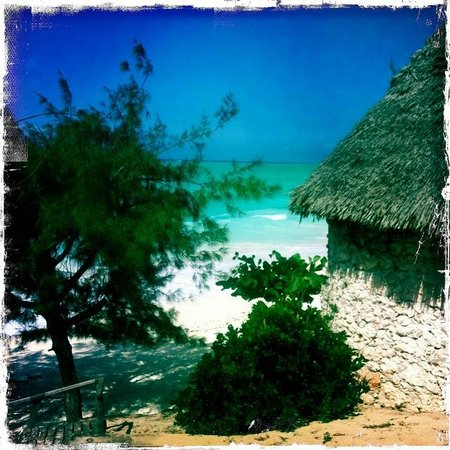 Sazani Beach Lodge: vue de notre bungalow