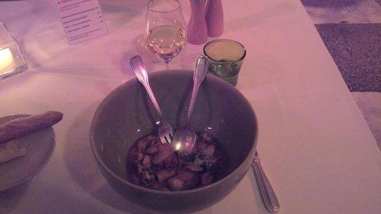 Restaurant Alain Llorca: original risotto en saladier Jars