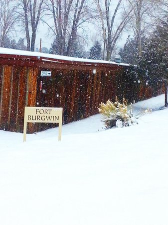 SMU-in-Taos: Historic Fort Burgwin covered in snow
