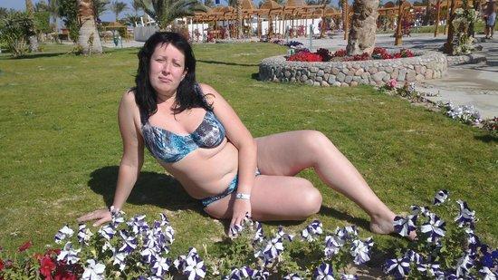 Desert Rose Resort : зона для отдых рядом с теплым бассейном