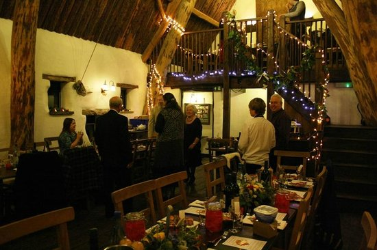 Craven Arms Cruck Barn: The barn decorated for our wedding