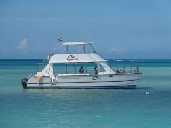 Paradise Island & The Mangroves (Cayo Arena): the boat