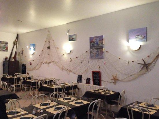Port La Nouvelle, France: La salle de restaurant.
