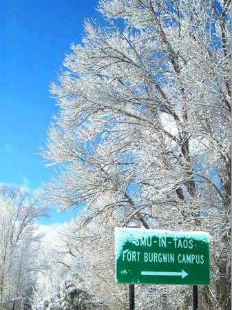 SMU-in-Taos: Road Sign to Fort Burgwin