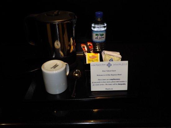 Al Diar Regency Hotel : Complimentary coffee and water