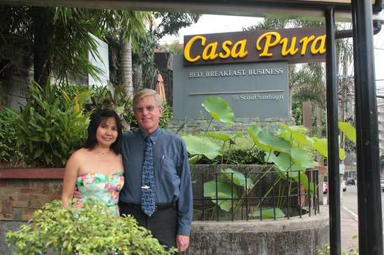 Casa Pura Inn and Suites: The two of us in front of Casa Pura prior to our wedding ceremony.