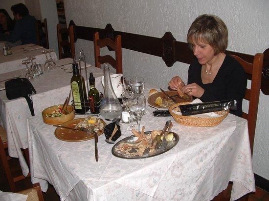 Ristorante a Sigogna: A tavola