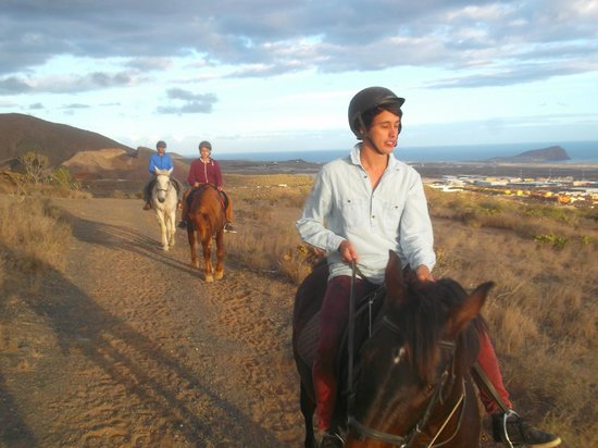 Horse Riding Adventures in Tenerife: Sun setting on a lovely evening