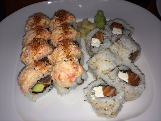 Sake Cafe Uptown: Spice Girl Roll & the Philadelphia Roll w/ fresh Salmon.