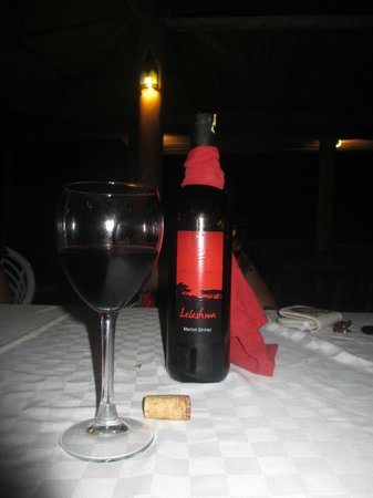 Blue Marlin Beach Restaurant: Local Leleshwa wine...