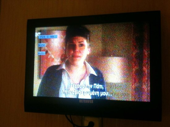 Athens Lotus Hotel : Horrible TV signal