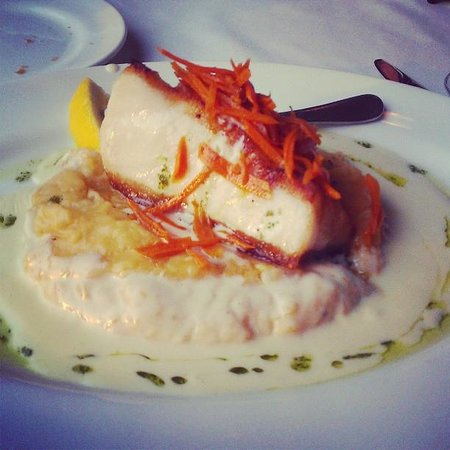 Merrill & Houston's Steak joint: Seabass with lobster mashed potatoes