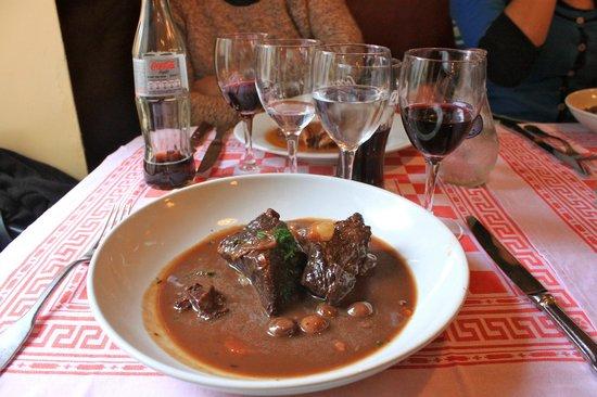 A la Pomponnette: Beef bourguignon