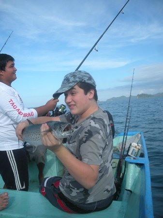 Hot Springs Lodge Costa Rica : fishing off the coast at Quepos
