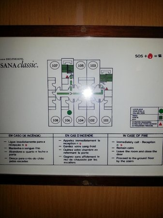 SANA Executive Hotel: Plan chambres