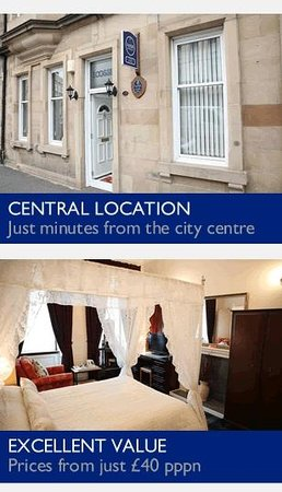 Ecosse International Guesthouse Edinburgh: Just minutes away from Edinburgh city centre with excellent value
