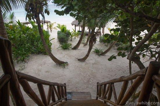Hotel Amoreira: Entrance to the beach